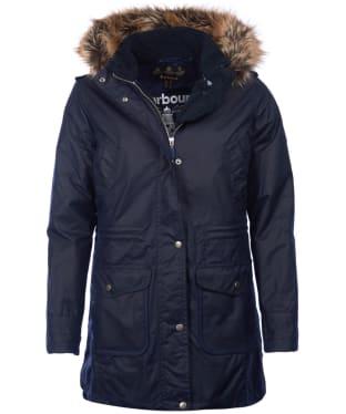 Women's Barbour Bridport Waxed Jacket - Royal Navy