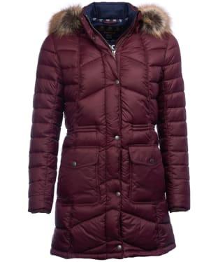 Women's Barbour Hamble Quilted Jacket - Aubergine