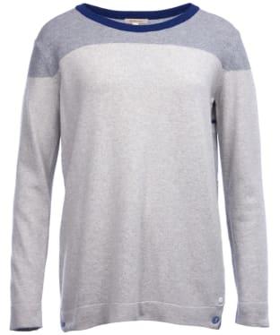 Women's Barbour Sandsend Knitted Sweater - Light Grey Marl