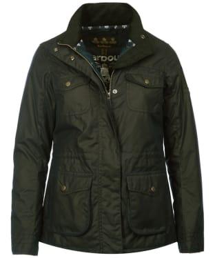 Women's Barbour Rhossili Waxed Jacket - Fern