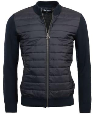 Men's Barbour Carn Baffle Zip Thru Sweater Jacket - Navy