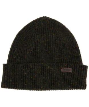 Men's Barbour Lowerfell Donegal Beanie Hat - Dark Green