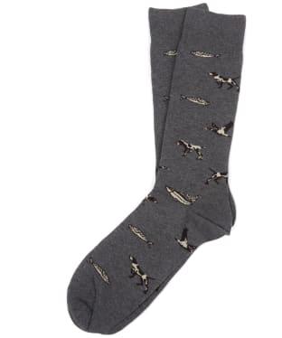 Men's Barbour Animal Mix Socks - Charcoal