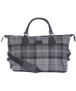 Barbour Shadow Tartan Explorer Bag - Black / Grey Tartan