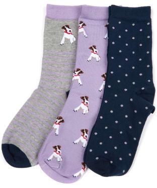 Women's Barbour Terrier Socks Giftbox - Multi
