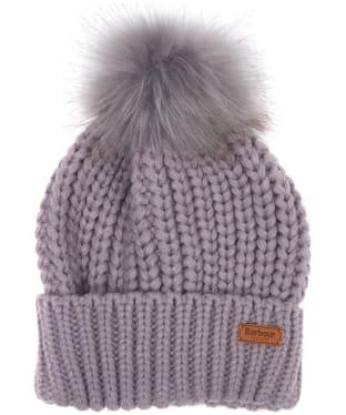 Women's Barbour Saltburn Bobble Hat - Lilac