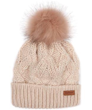 Women's Barbour Bridport Pom Pom Beanie Hat - Pink
