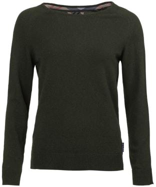 Women's Barbour Pendle Crew Neck Sweater - Olive