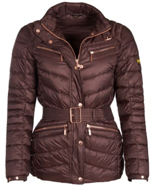 Women's Barbour International Trail Quilted Jacket - Cocoa