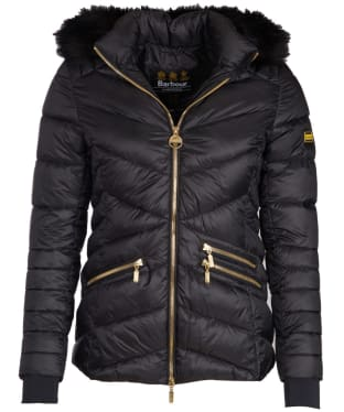 Women's Barbour International Turbo Quilted Jacket - Black