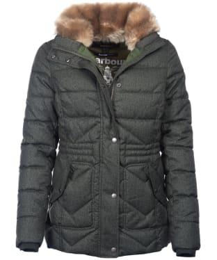 Women's Barbour Langstone Quilted Jacket - Kelp