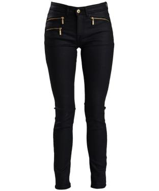 Women's Barbour International Aubern Jeans - Black