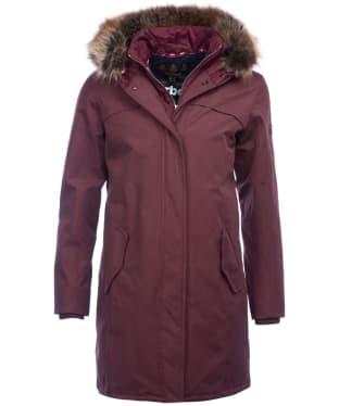 Women's Barbour Coldhurst Waterproof Jacket - Aubergine