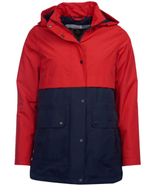Women's Barbour Altair Waterproof Jacket - Tartan Red / Navy