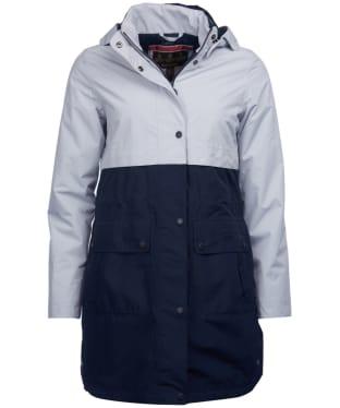 Women's Barbour Damini Waterproof Jacket - Ice White / Navy