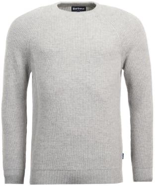 Men's Barbour Manor Crew Neck Sweater - Light Grey Marl