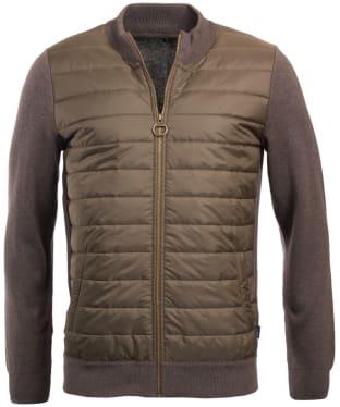 Men's Barbour Carn Baffle Zip Thru Sweater Jacket - Clay