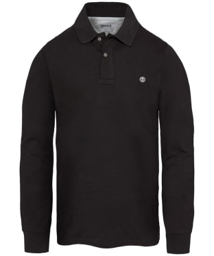 Men's Timberland Long Sleeve Millers River Polo Shirt - Black