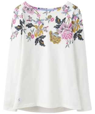 Women's Joules Harbour Print Jersey Top - Cream Chinoise Border