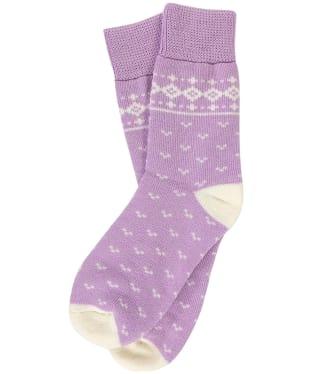 Women's Barbour Dover Socks - Lilac / Cream