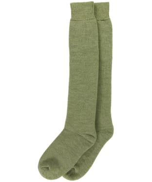 Women's Barbour Knee Length Wellington Socks - Green