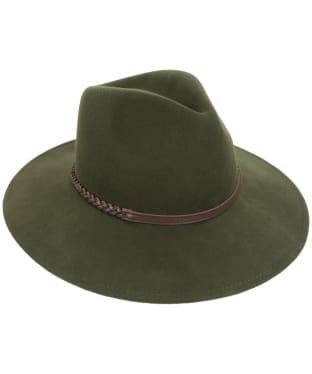 Barbour Tack Fedora Hat - Moss Green