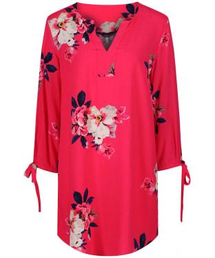Women's Joules Odelle Woven Tunic Top - Raspberry Bircham Bloom
