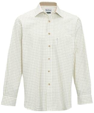 Men's Barbour Field Tattersall Shirt - Classic collar - Green / Brown