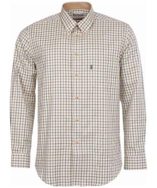 Men's Barbour Sporting Tattersall Shirt - Long Sleeve - Navy / Olive