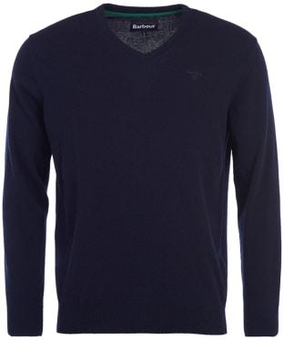 Men's Barbour Essential Lambswool V Neck Sweater - Navy