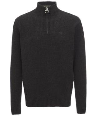 Men's Barbour Essential Lambswool Half Zip Sweater - Charcoal