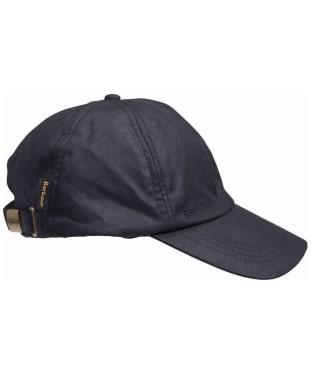 Men's Barbour Waxed Sports Cap - Navy