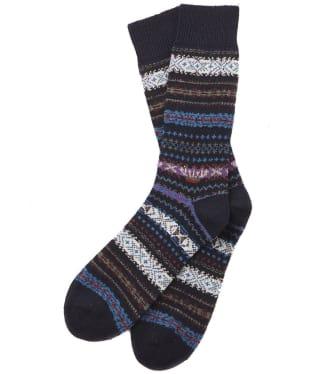 Men's Barbour Boyd Socks - Navy Mix