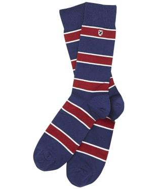 Men's Barbour Hexham Stripe Socks - Deep Blue