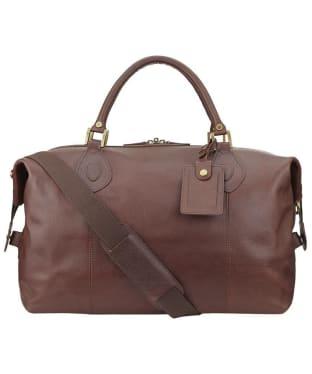 Barbour Leather Medium Travel Explorer Bag - Brown