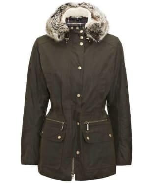 Women's Barbour Kelsall Waxed Jacket - Olive