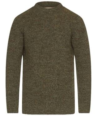 Men's Barbour New Tyne Crew Neck Sweater - Derby Tweed