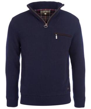 Men's Barbour Ayton Waterproof Half Zip Sweater - Navy