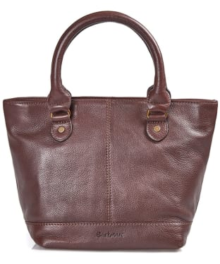 Women's Barbour Preston Leather Tote Bag - Dark Brown