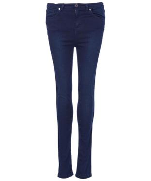 Women's Barbour International Fireblade High-Waisted Super Skinny Jeans - Deep Indigo