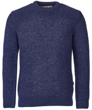 Men's Barbour New Tyne Crew Neck Sweater - Denim