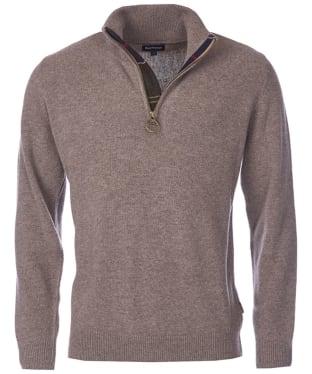 Men's Barbour Holden Half Zip Sweater - Military Marl
