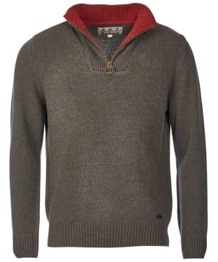 Men's Barbour Nelson Half Zip Sweater - Seaweed
