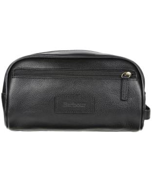 Barbour Leather Washbag - Black