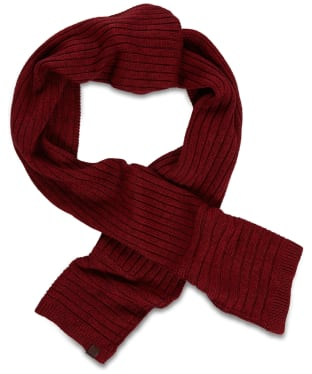 Men's Timberland Sherwood Island Ribbed Scarf - Red Dahlia Heather