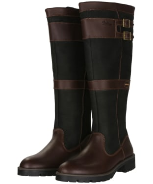 Women's Dubarry Longford Leather Boots - Black / Brown