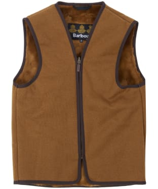 Barbour Children's Beaufort Waistcoat / Zip-in Liner, 10-15yrs - Brown