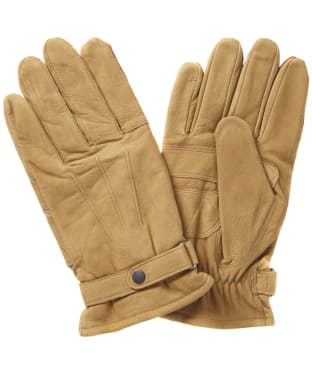 Men's Barbour Leather Thinsulate Gloves - Tan