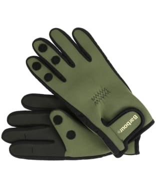 Men's Barbour Neoprene Gloves - Green
