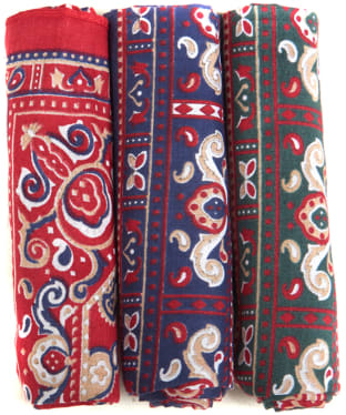 Men's Barbour Paisley Handkerchiefs - Red / Green / Navy